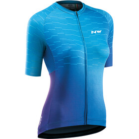 Northwave Blade Short Sleeve Jersey Women, purple blue